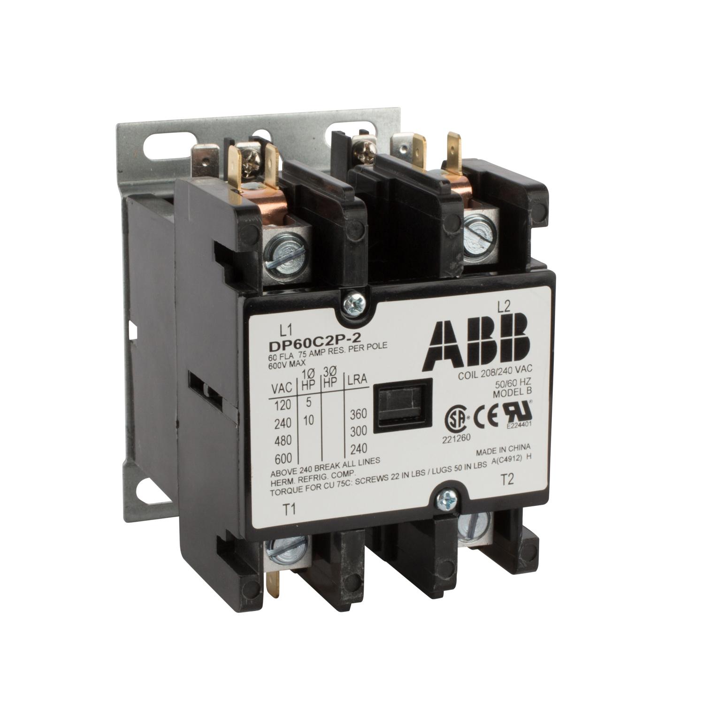 ABB DP60C2P-2 DP CONT,60A,2P,208/24