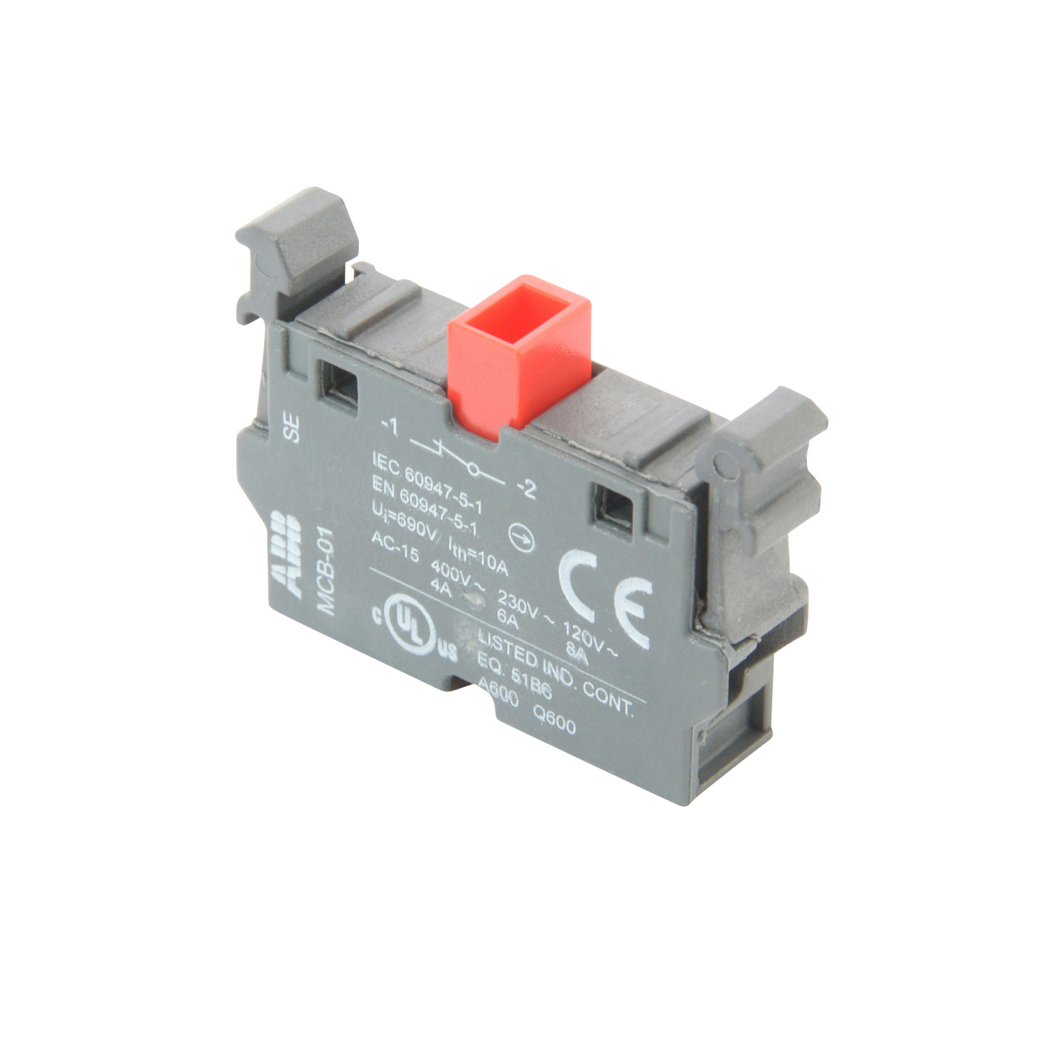 ABB MCB-01 Single contact block for front mounting with 1 NC contact.(formally SK-616-001-B