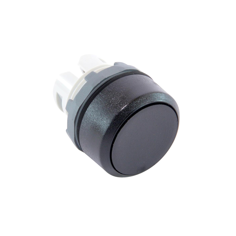 ABB MP1-10B Pushbutton Operator, Mom, Blk, Flush Non-Ill, 22mm Mounting, Blk Plastic, ADD Contacts/Carrier, 1SFA611100R1006