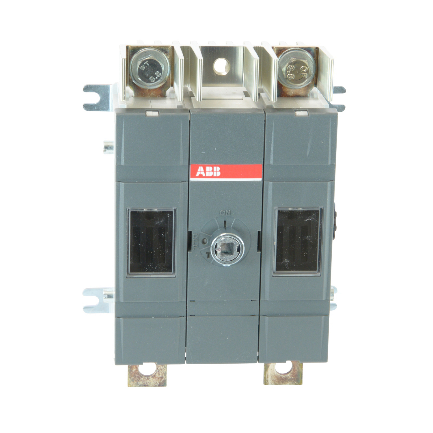 OS30FACC12 ABB 3POLE 30A CLASS CC FUSIBLE DISCONNECT SWITCH; 1POLE LEFT/2POLES RIGHT OF MECHANISM