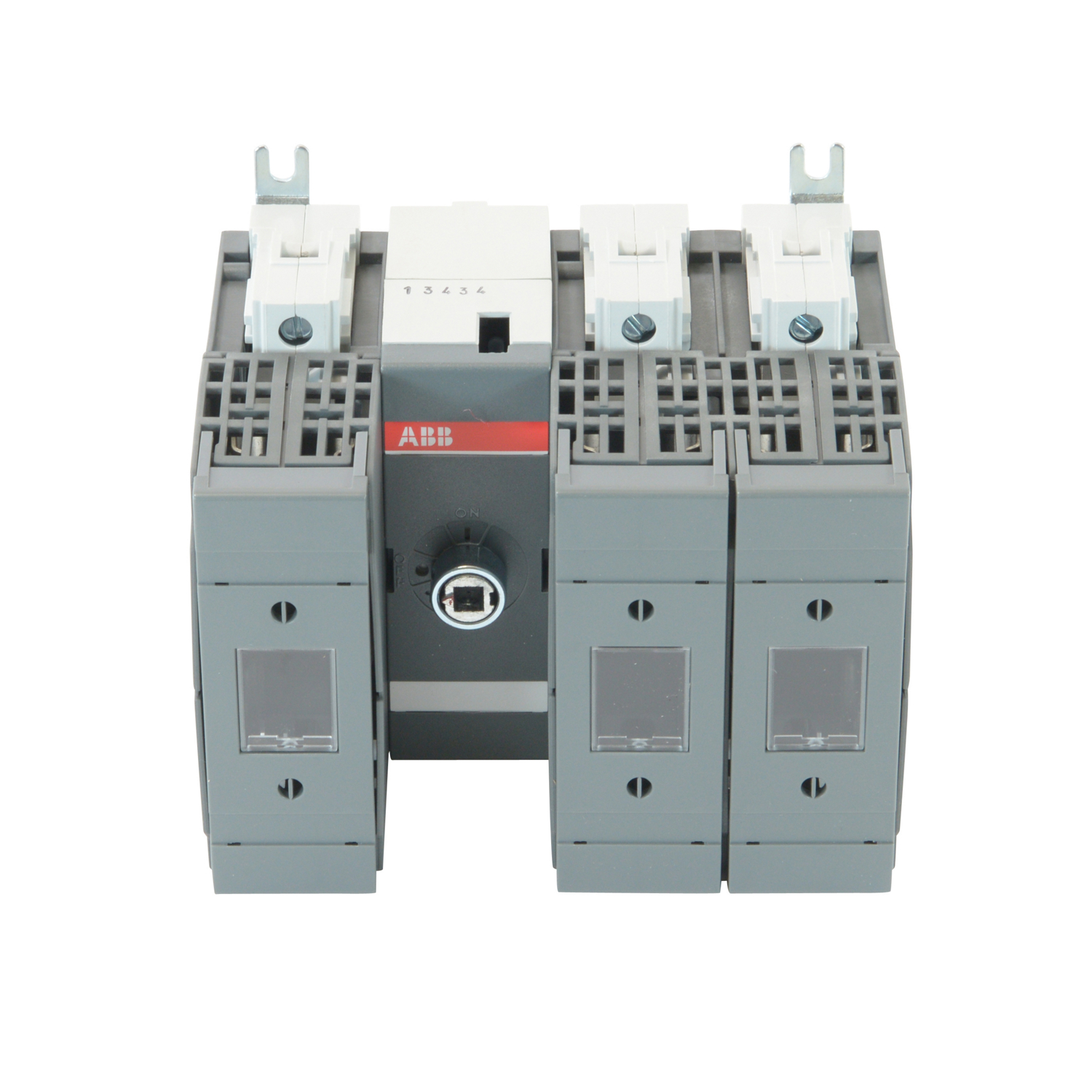 ABB OS60GJ12 Fused Disconnect Switch. 60 Amp. Base and DIN Rail Mounted. 3-Pole. UL Fuse Type: Class J. 600V AC. Wire Size: 14 - 4 AWG. For use with 6 mm Shafts and Handles. Integral Lug Kit & IP20 Terminal Shrouds Included.