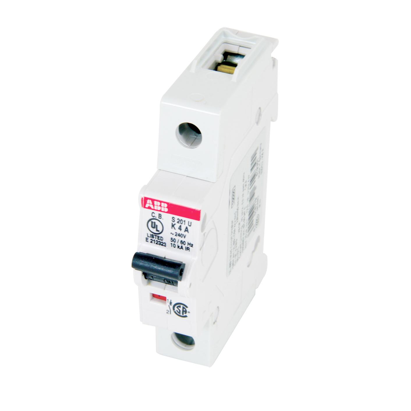 Thomas & Betts S201U-K4 4 Amp Miniature Circuit Breaker