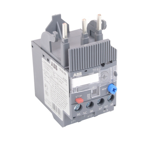 ABB TF42-29 24.0 - 29.0 Amp, IEC, Overload Relay, Type: Thermal Bi-Metallic, Trip Class 10. Selectable Manual or Automatic Reset. For use with AF Series, AF9 - AF38 Frame Contactors. Can be used in 1 Phase Application