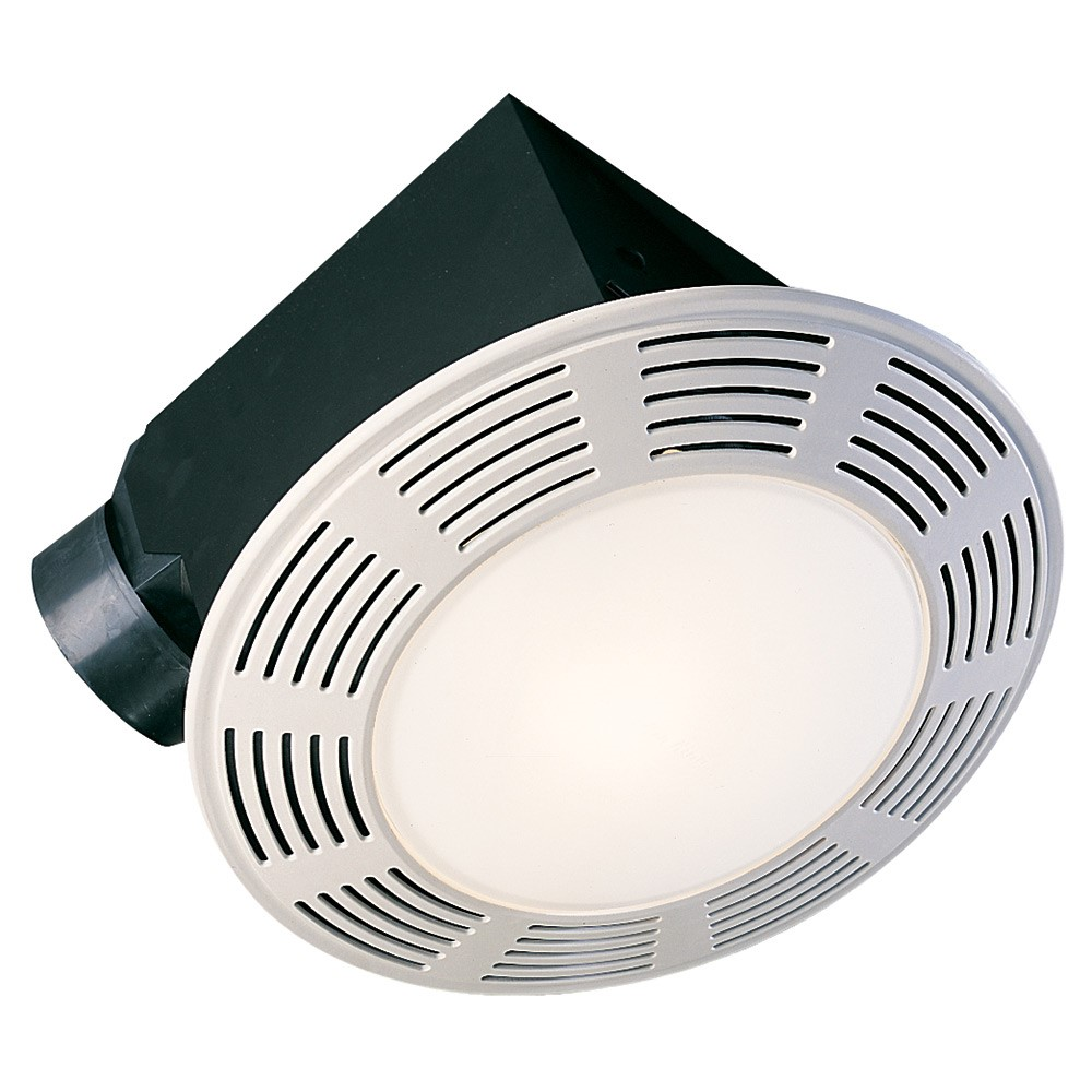Air King AK863L 100 CFM 35 Sones Exhaust Fan with 100 W Incandescent Light and 7 W Night Light with 4 Inch Duct