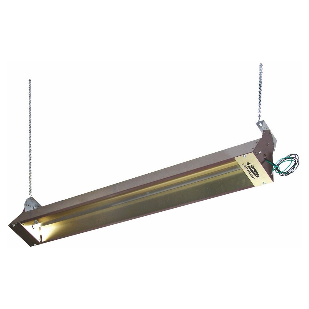 TPI,OCH46208V,2000W 208V Outdoor/Indoor Quartz Infrared Heater, Brown