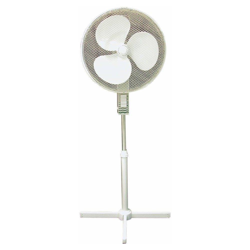 TPI OSF16 16IN OSCILLATING STAND FAN, 3 SPEED, PUSH BUTTON CONTROL