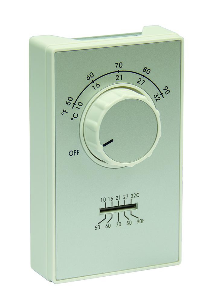 ryw ET9DTS RAYWALL DPST Heat Thrmst Thrmtr Term 50-90F