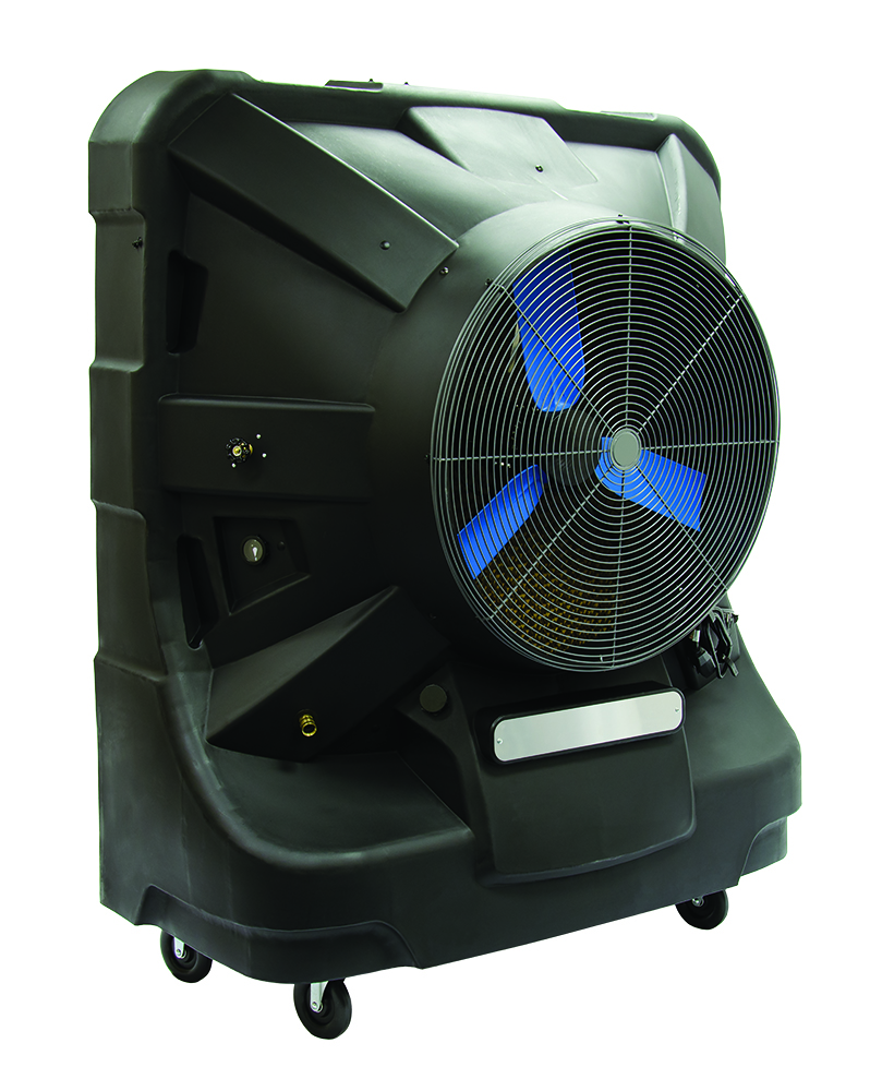TPI EVAP36HD Portable Evaporative Cooler, 3125 sq-ft Coverage, 15 A, 12500 cfm Flow Rate, 60 gal Tank