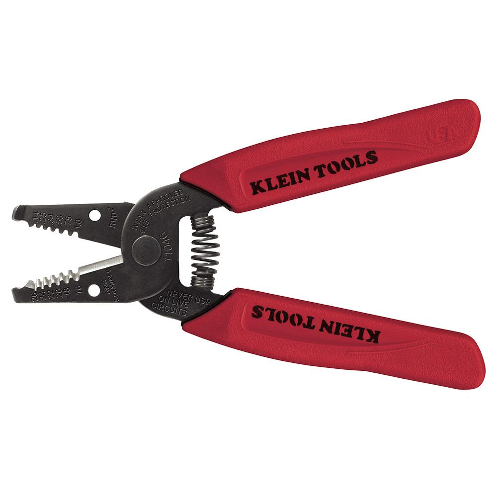 Klein Tools,11046,Klein® 11046 Wire Stripper/Cutter, 16 to 26 AWG, 6-1/4 in L, Hardened Steel Jaw, Hardened Steel Body