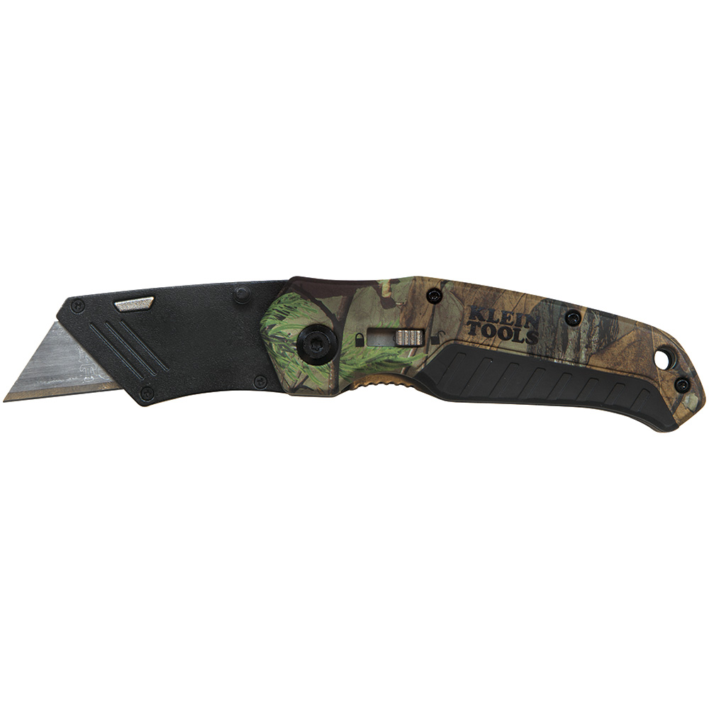 KLE 44135 Folding Utility Knife, Camo, Assisted-Open