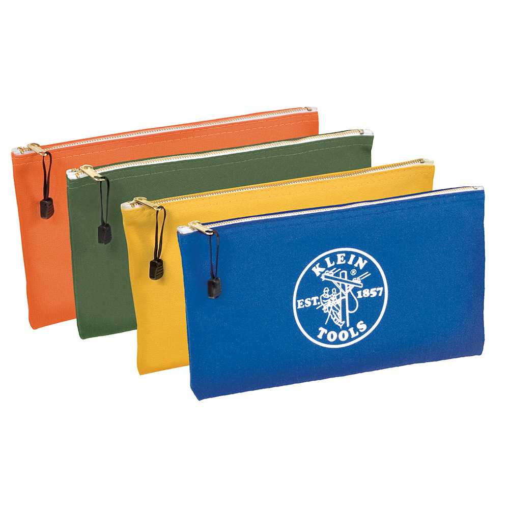 KLE 5140 4-PACK 12-1/2 ZIPPER BAG CANVAS CS=6