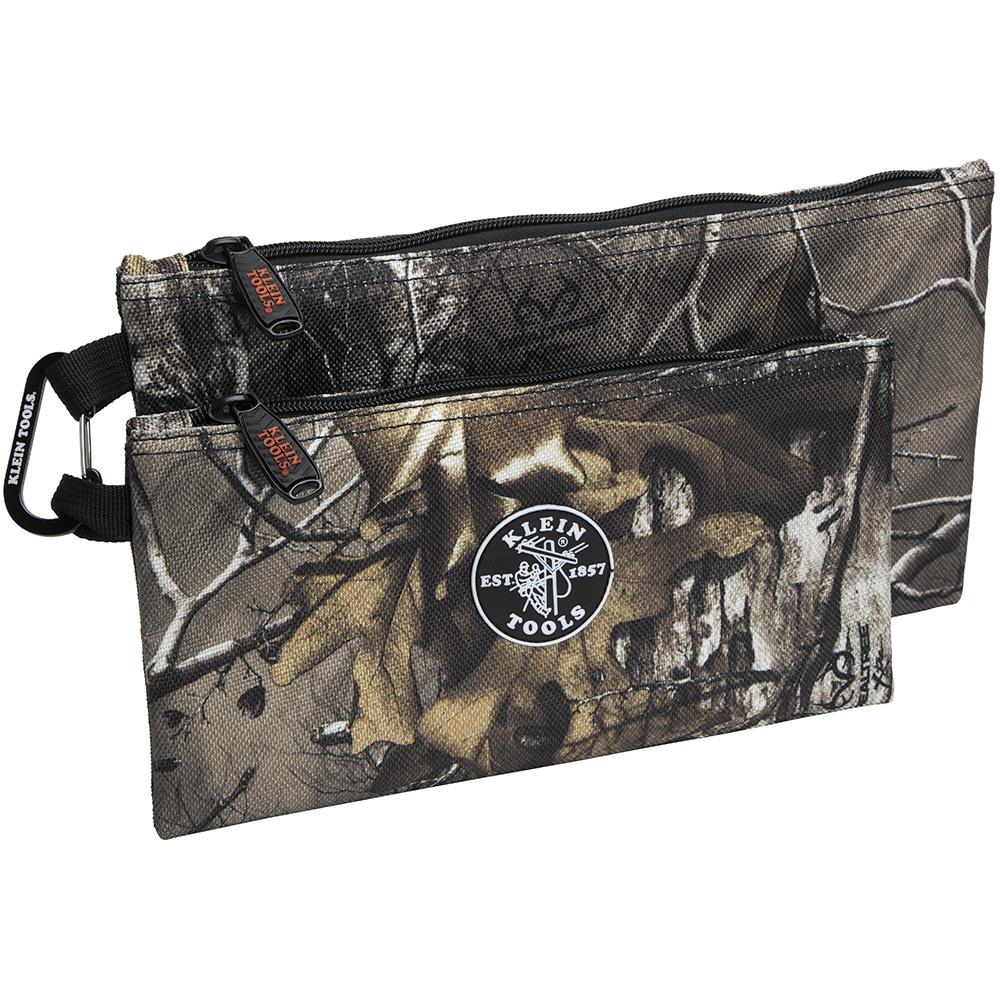 55560 KLEIN CAMO ZIPPER BAGS, 2-PACK 09264455560