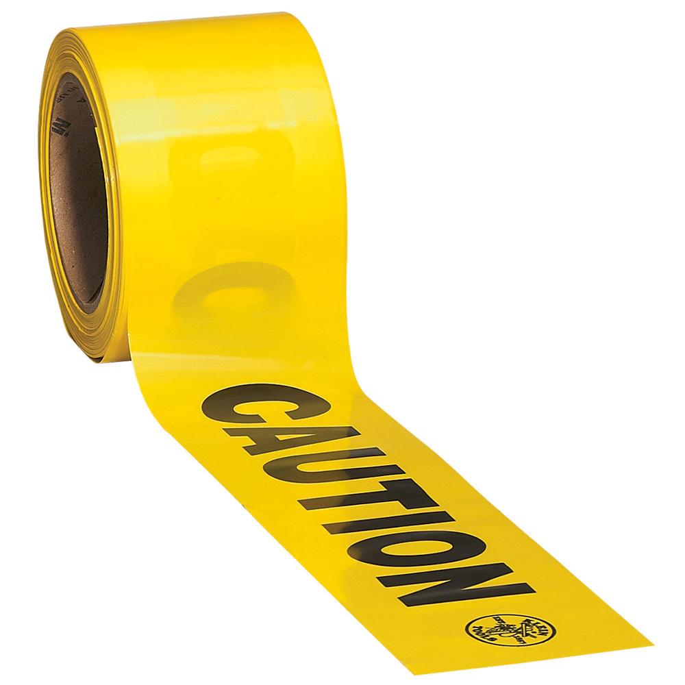 Klein Tools,58000,Klein® 58000 Warning Tape, Black on Yellow, 3 in W x 200 ft L x 2.5 mil THK
