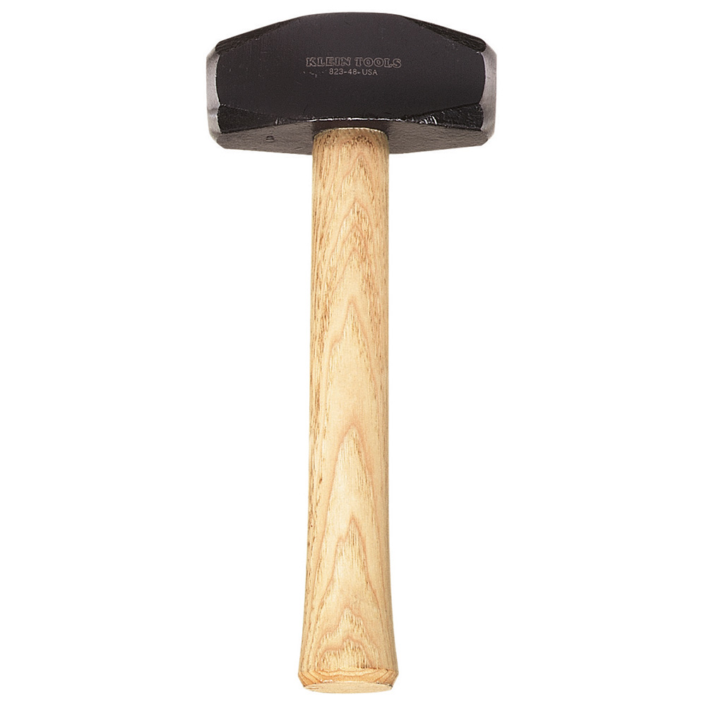 Klein Tools,823-48,Klein® 823-48 Hand Drilling Hammer, 10 in OAL, 48 oz Head Weight, Alloy Steel Head, Hickory Handle