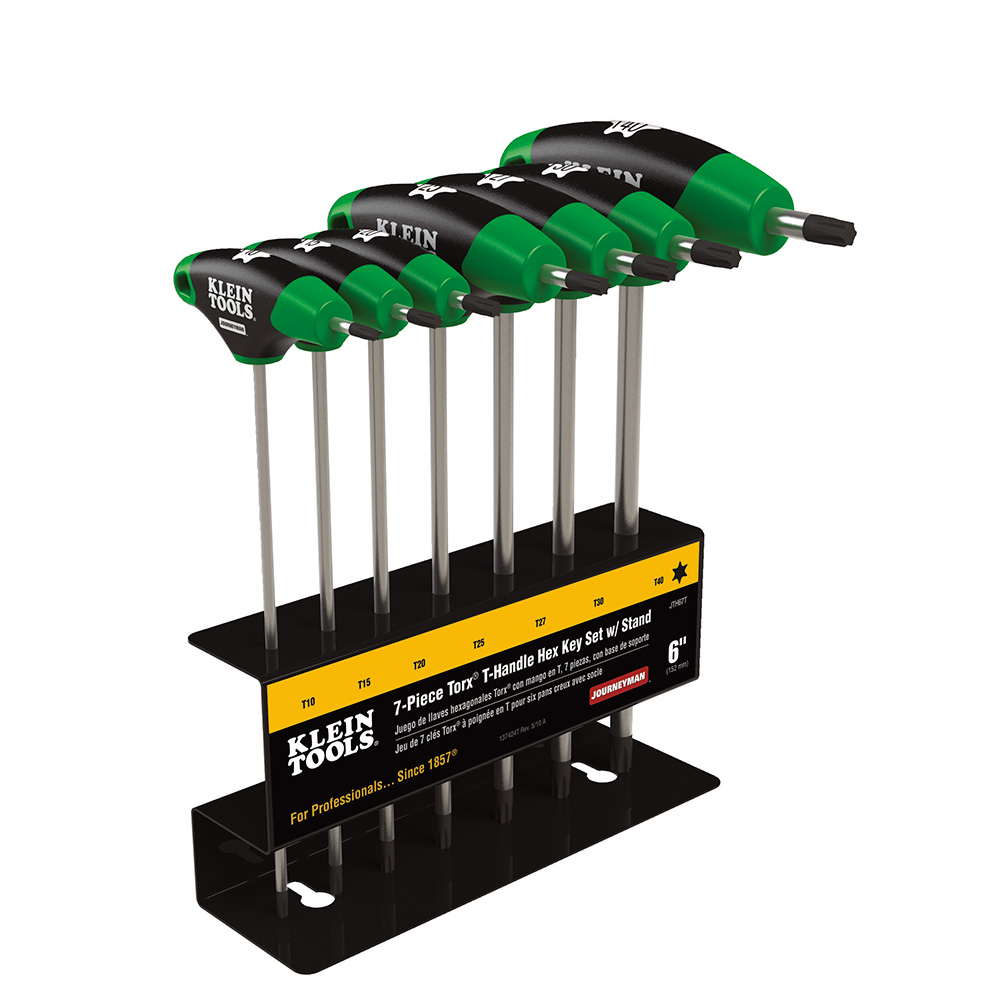 Klein Tools,JTH67T,Journeyman™ TORX® JTH67T T-Handle Set With Stand, 7 Pieces