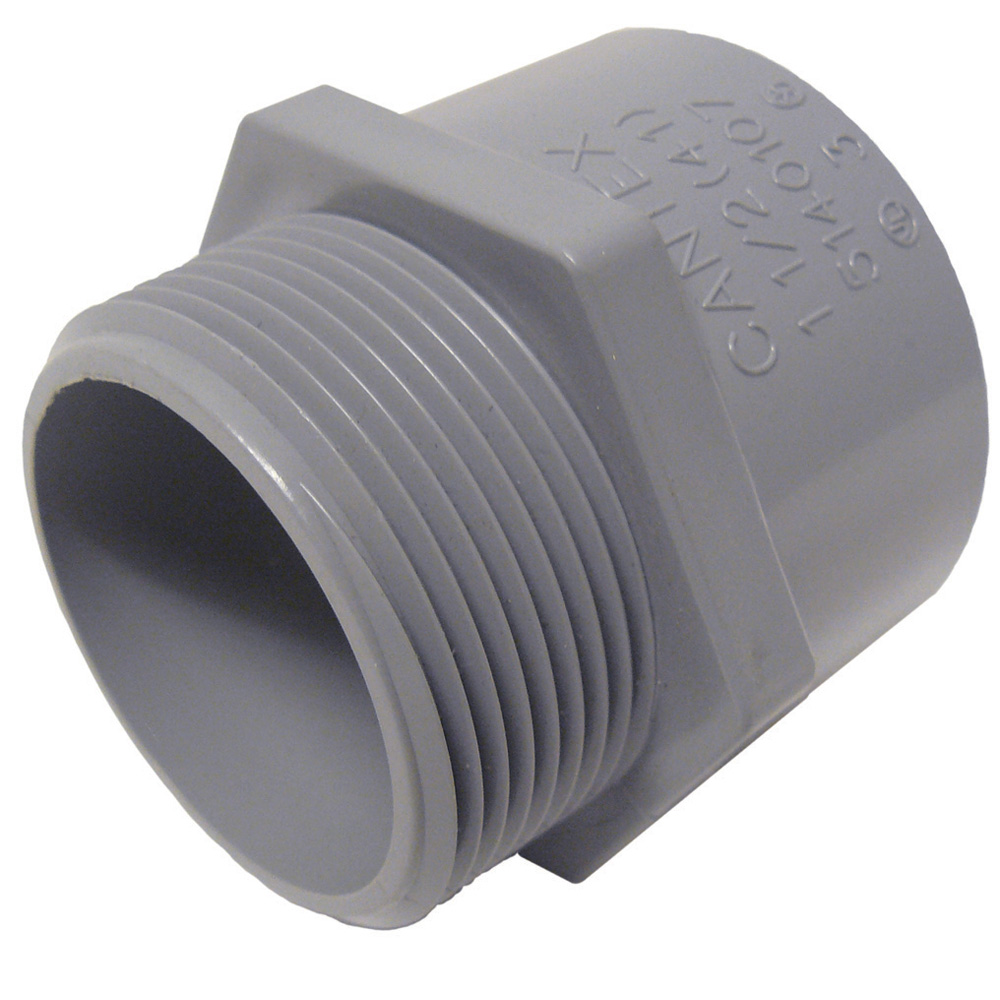 "PVC 3/4""-TERM-ADAPTOR PVC3/4MA CTX# 5140104 KLY# TA07 078085 CAR# E943E"