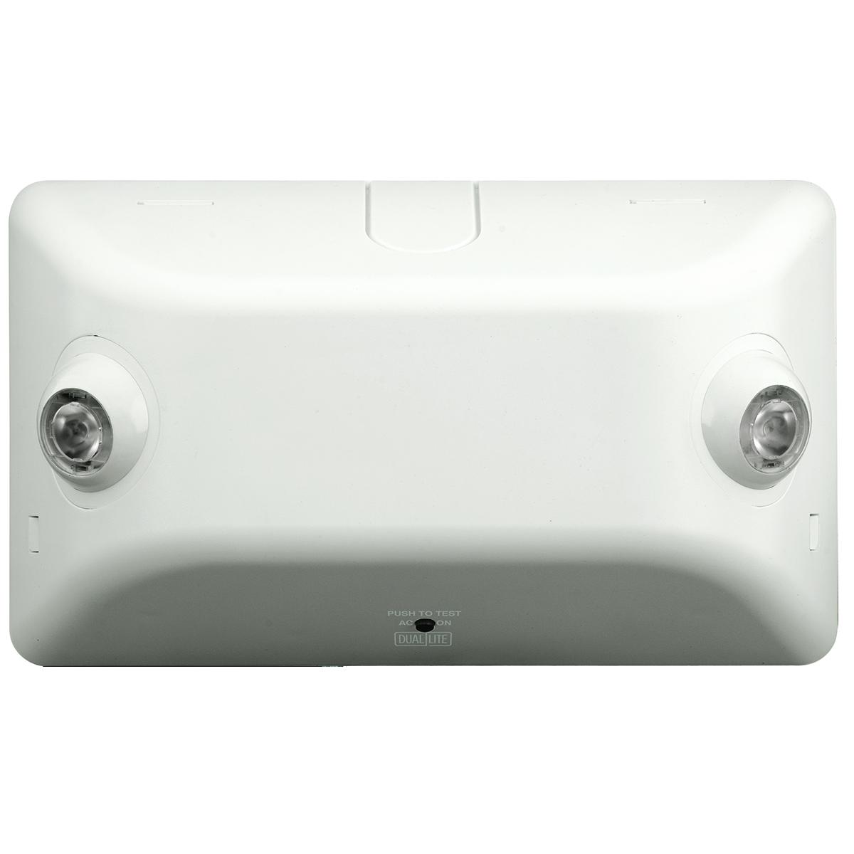 Dual-Lite,EV4D,Dual-Lite® EV4D Architectural Emergency Light Fixture, 2.75 W LED Lamp, 120 to 277 VAC, 2 Heads, Thermoplastic
