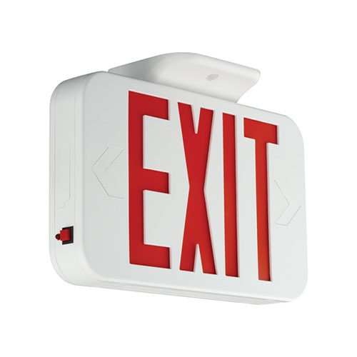 HUB CEG EXIT SIGN, GREEN LETTERS, UNIV. FACE, NICA