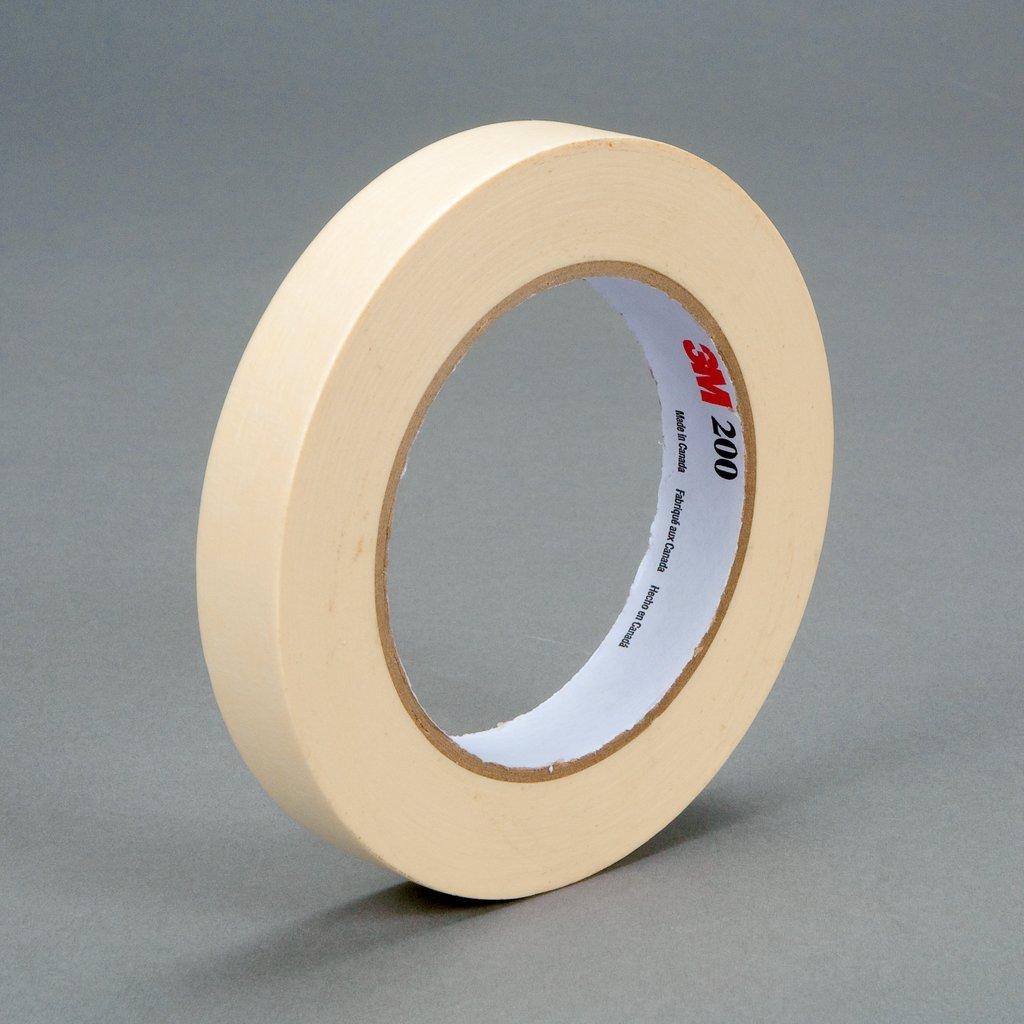3M™ 048011-53464 Masking Tape, 55 m L x 18 mm W, 4.4 mil THK, Paper, Rubber Adhesive, Crepe Paper Backing