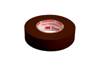 "3M 1700C-3/4X66FT-BR 1700C 3/4"" x 66ft Vinyl Electrical Tape, Brown"