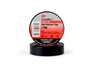 3M 1700-BLK 3/4X60FT BLACK VINYL TAPE cs=10/100 prev: 1776-3/4INX60FT