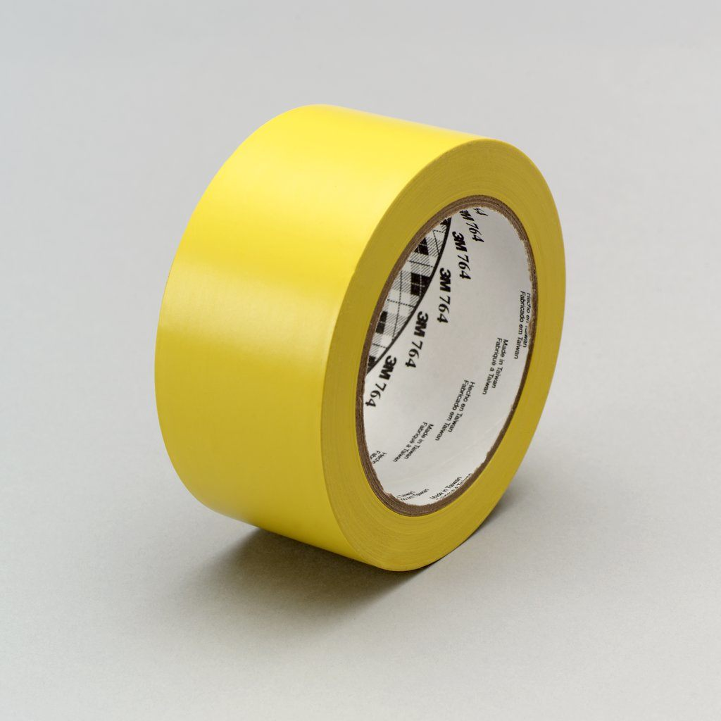 3M 764-2X36-YLW 25 Roll/Case 2 Inch x 36 Yard Yellow General Purpose Vinyl Tape