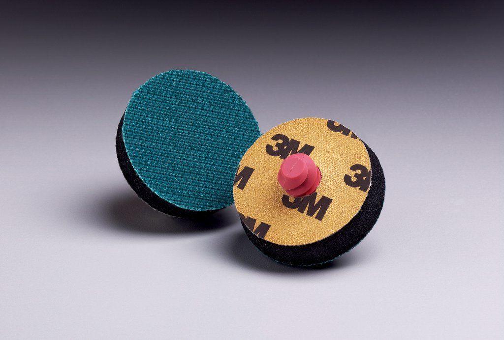 3M™ 051144-82565 Medium Density Regular Centerless and Cylindrical Wheel, 1-1/2 in Dia Pad, Hookit™ Attachment