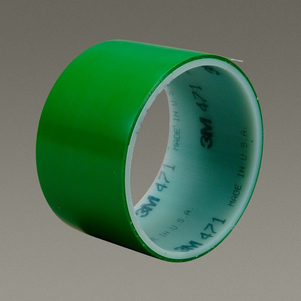 3M™ 021200-04313 High Performance Vinyl Tape, 36 yd L x 2 in W, 5.2 mil THK, Rubber Adhesive, Vinyl Backing, Green