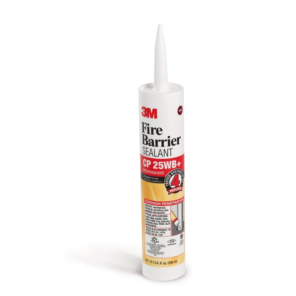 3M CP-25WB+ FIRE BARRIER CAULK 4HR RATED - 10.1 FL.OZ CARTRIDGE CS=12