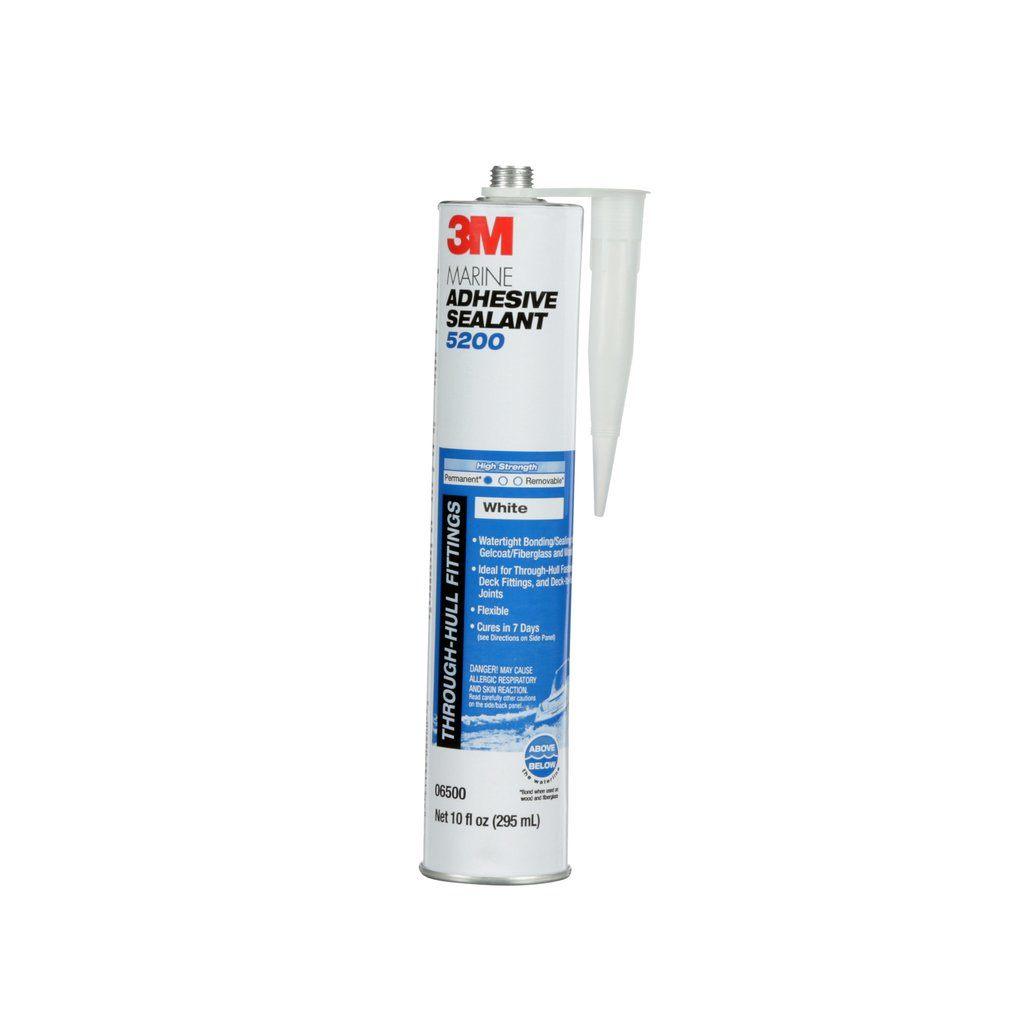 3M™ 051135-06500 5200 Marine Adhesive Sealant, 0.1 gal Cartridge, Medium Paste, White, 1.36