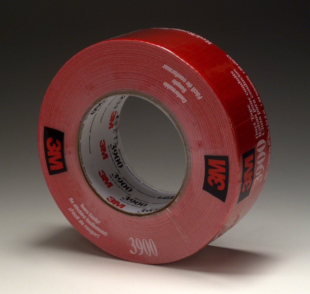 3M 3900-Red Duct Tape Red, 48 mm x 54.8 m Multi-Purpose cs=24