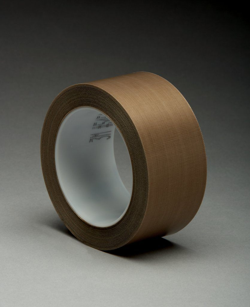3M™ 021200-16154 5451 Pressure Sensitive Glass Cloth Tape, 2 in W x 36 yd Roll L, 5.6 mil THK, Brown