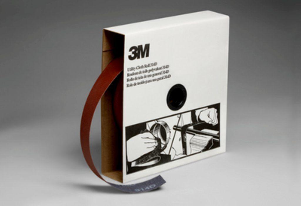 3M™ 051115-19811 Utility Cloth Roll, 1-1/2 in W x 50 yd L, P80 Grit, Medium Grade, Aluminum Oxide Abrasive, Cloth Backing