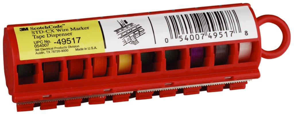 3-M STD-CX ScotchCode Wire Marker Tape Dispenser with Tape,