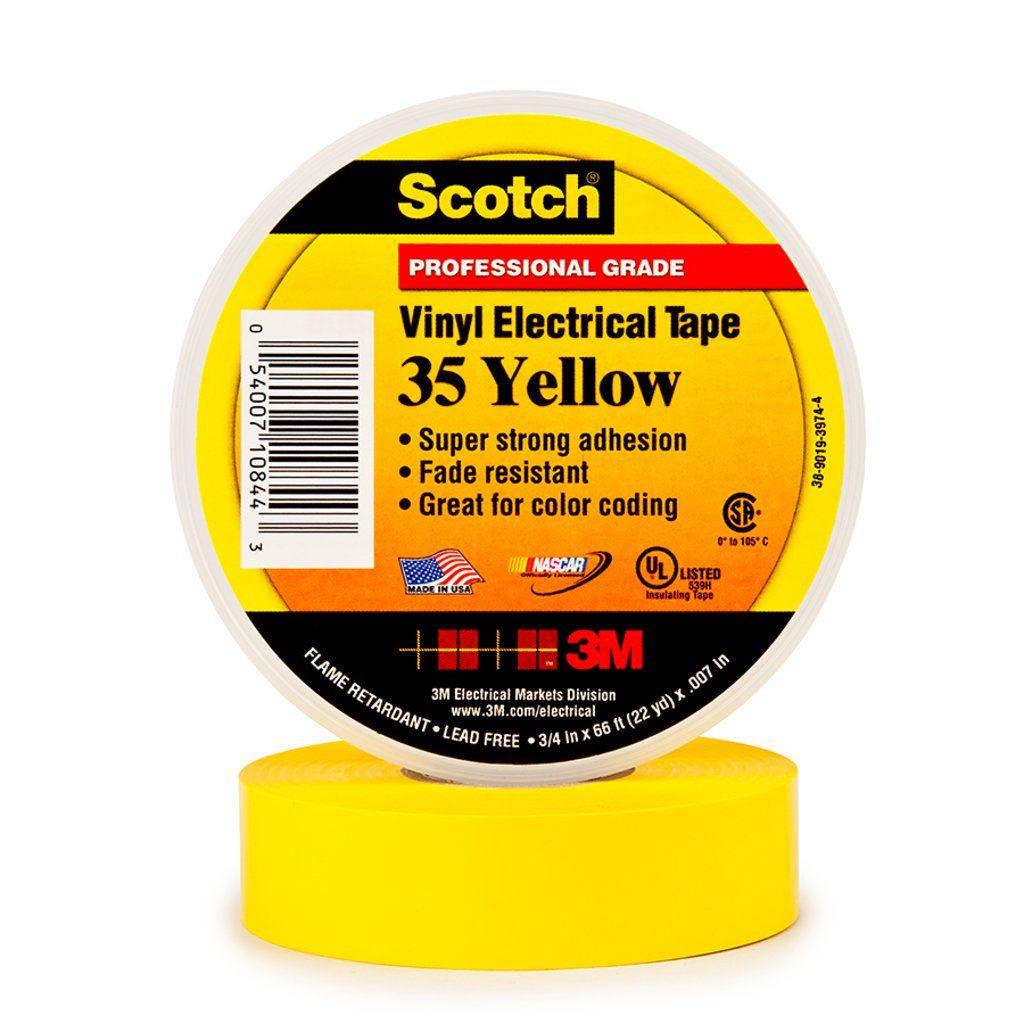 3M 35-YELLOW-3/4 VINYL COLOR CODING TAPE 3/4