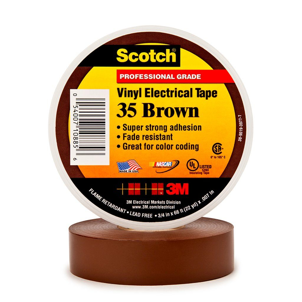 """3M 35-3/4X66FT-BR 35 BROWN 3/4"""" X 6"""