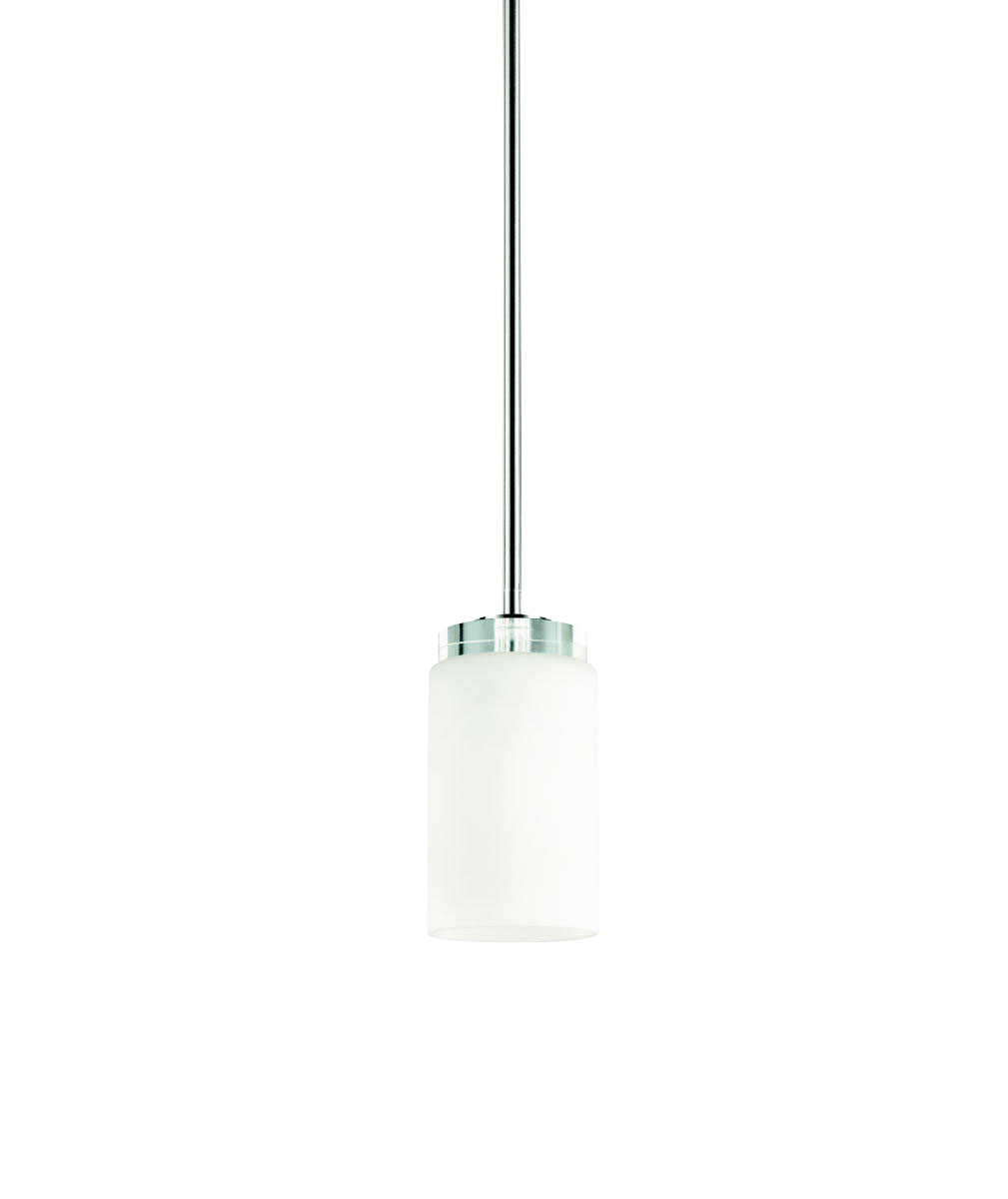 KIC 42123CH One Light Chrome Down Mini Pendant 1X100Medium