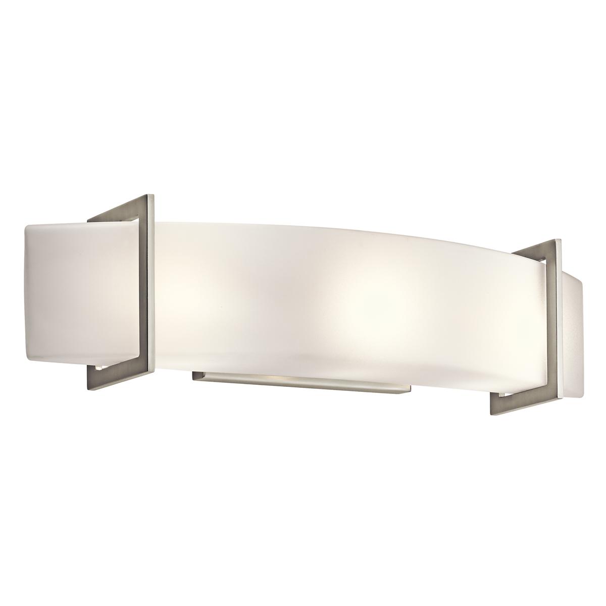 KIC 45220NI Three Light Brushed Nickel Vanity 3X60Candelabra