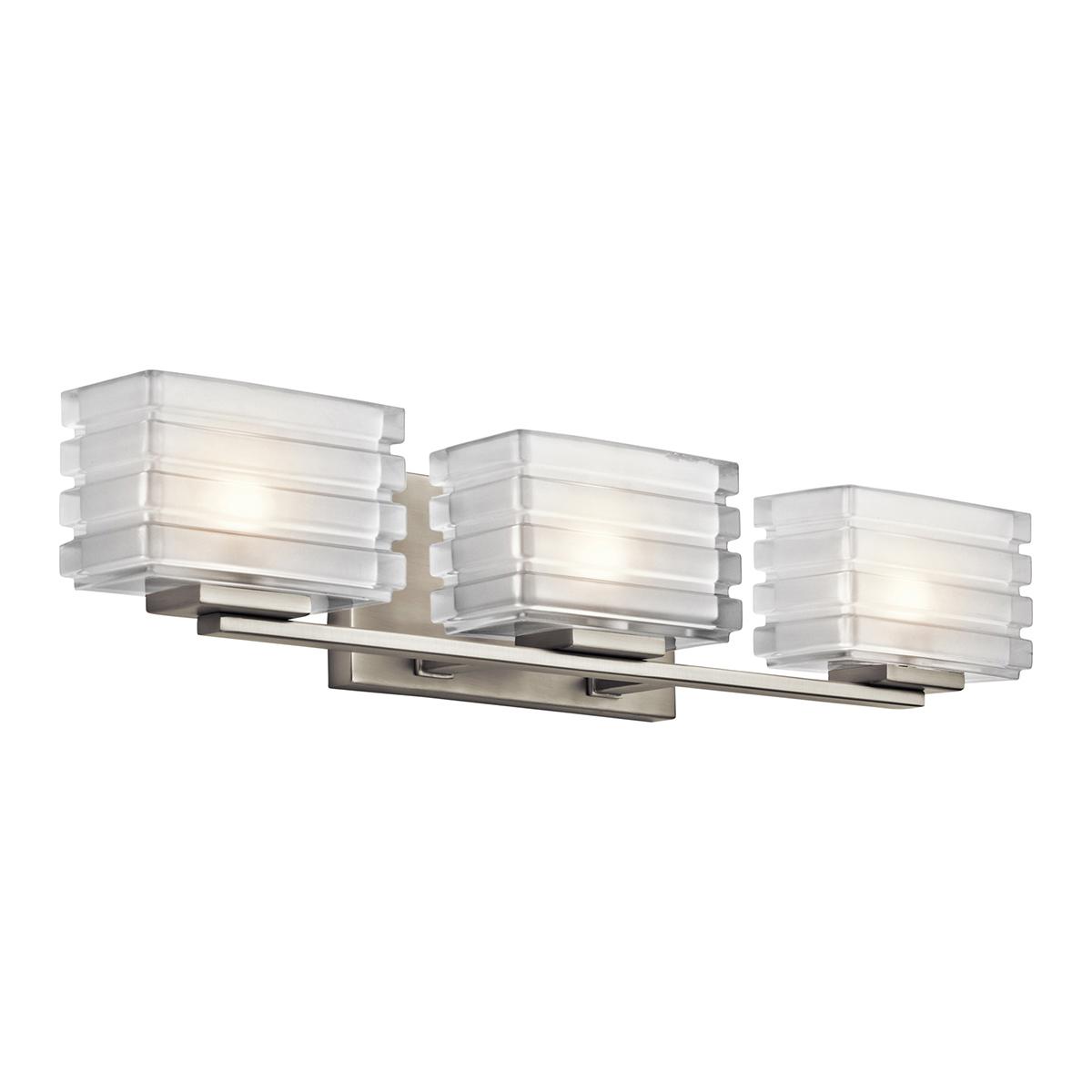 KIC 45479NI Three Light Brushed Nickel Vanity 3X50G9
