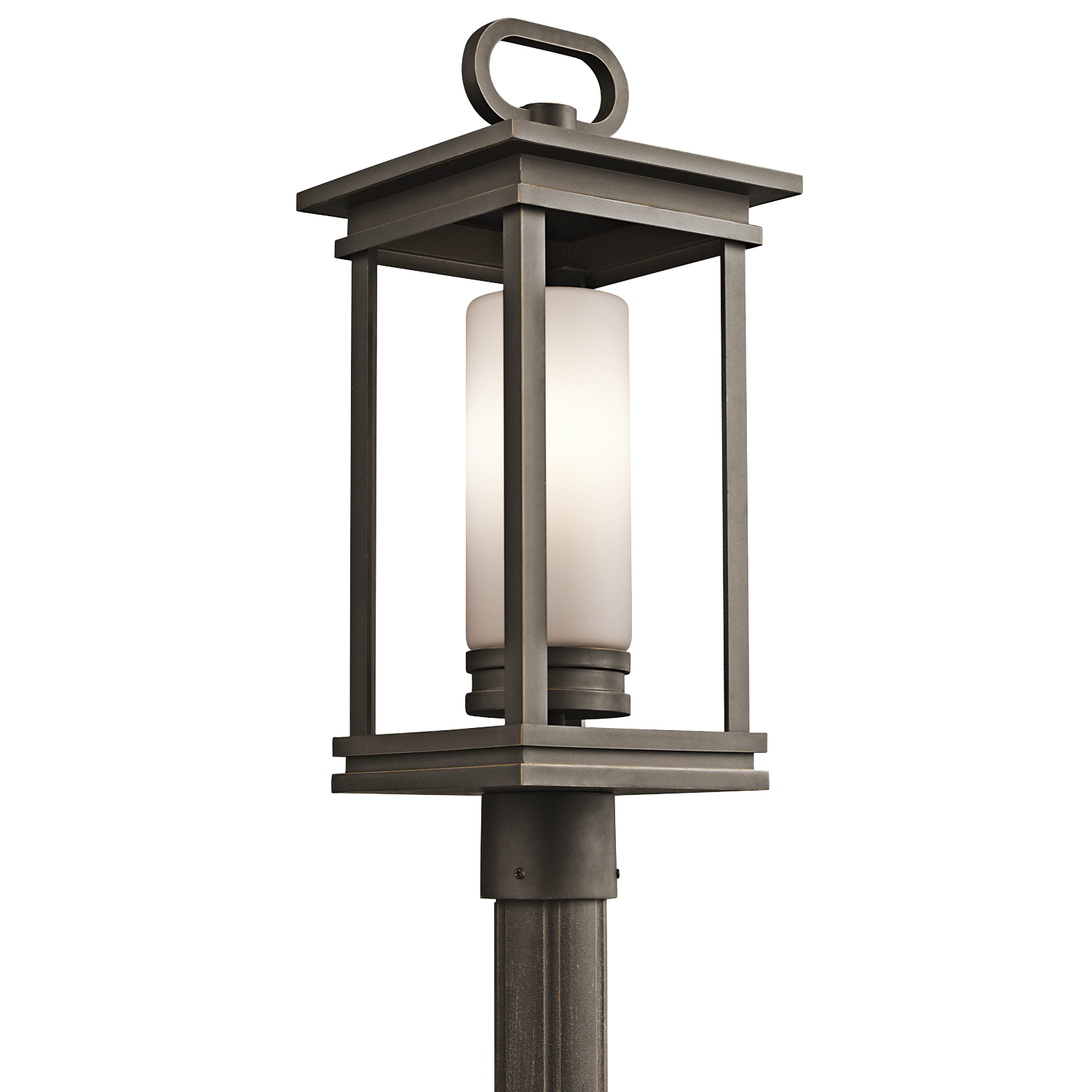 KIC 49478RZ One Light Olde Bronze Post Light