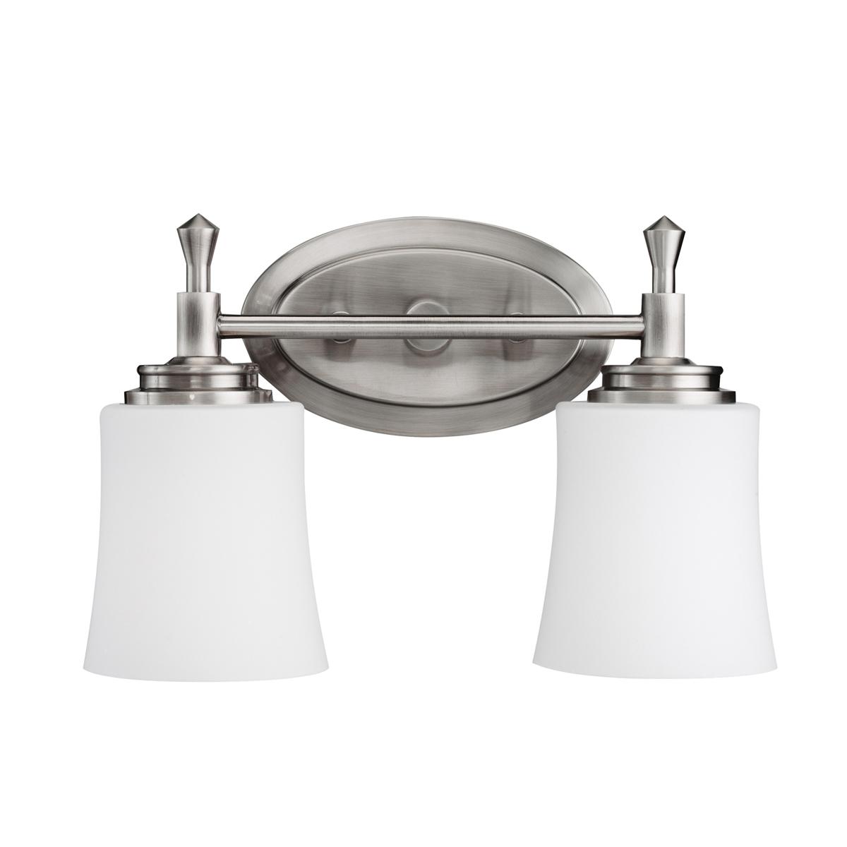 KIC 5360NI Two Light Brushed Nickel Vanity 2X100M