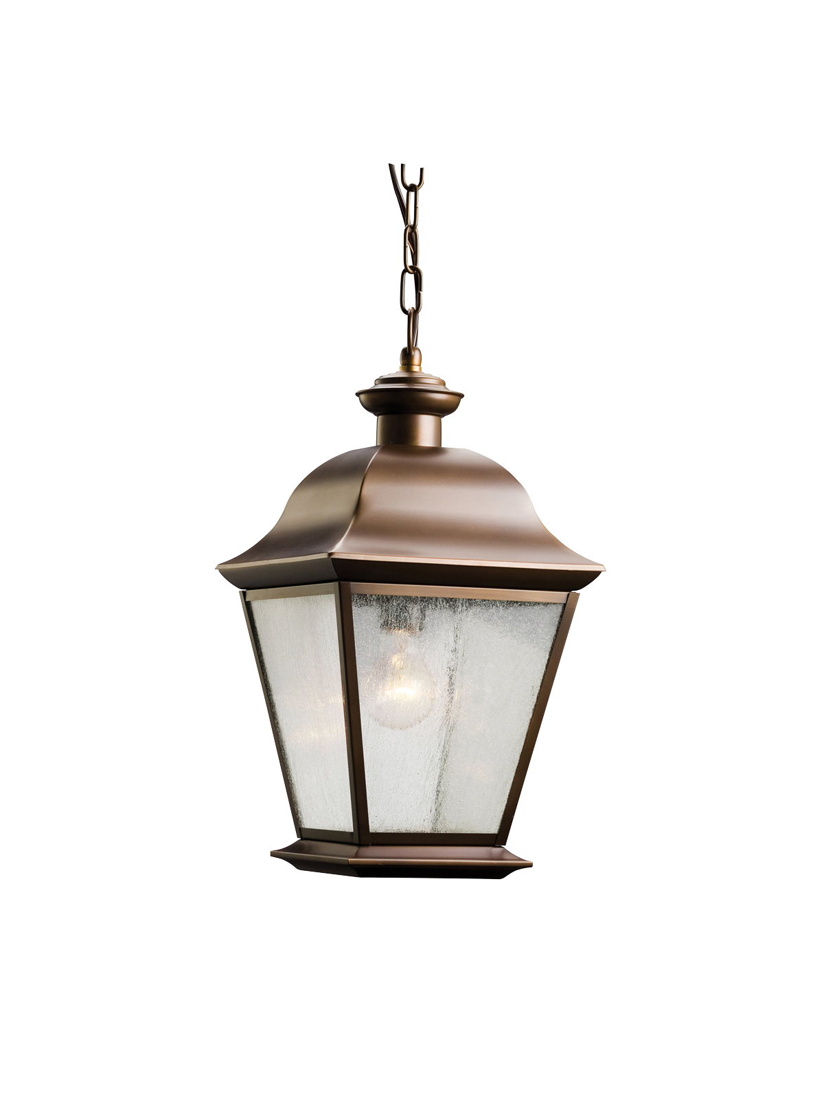 KIC 9809OZ One Light Olde Bronze Hanging Lantern 1X150M
