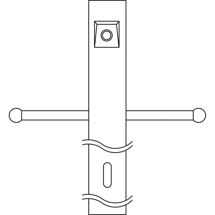 KIC 49904BK Post w/Ext Photocell & Ladder