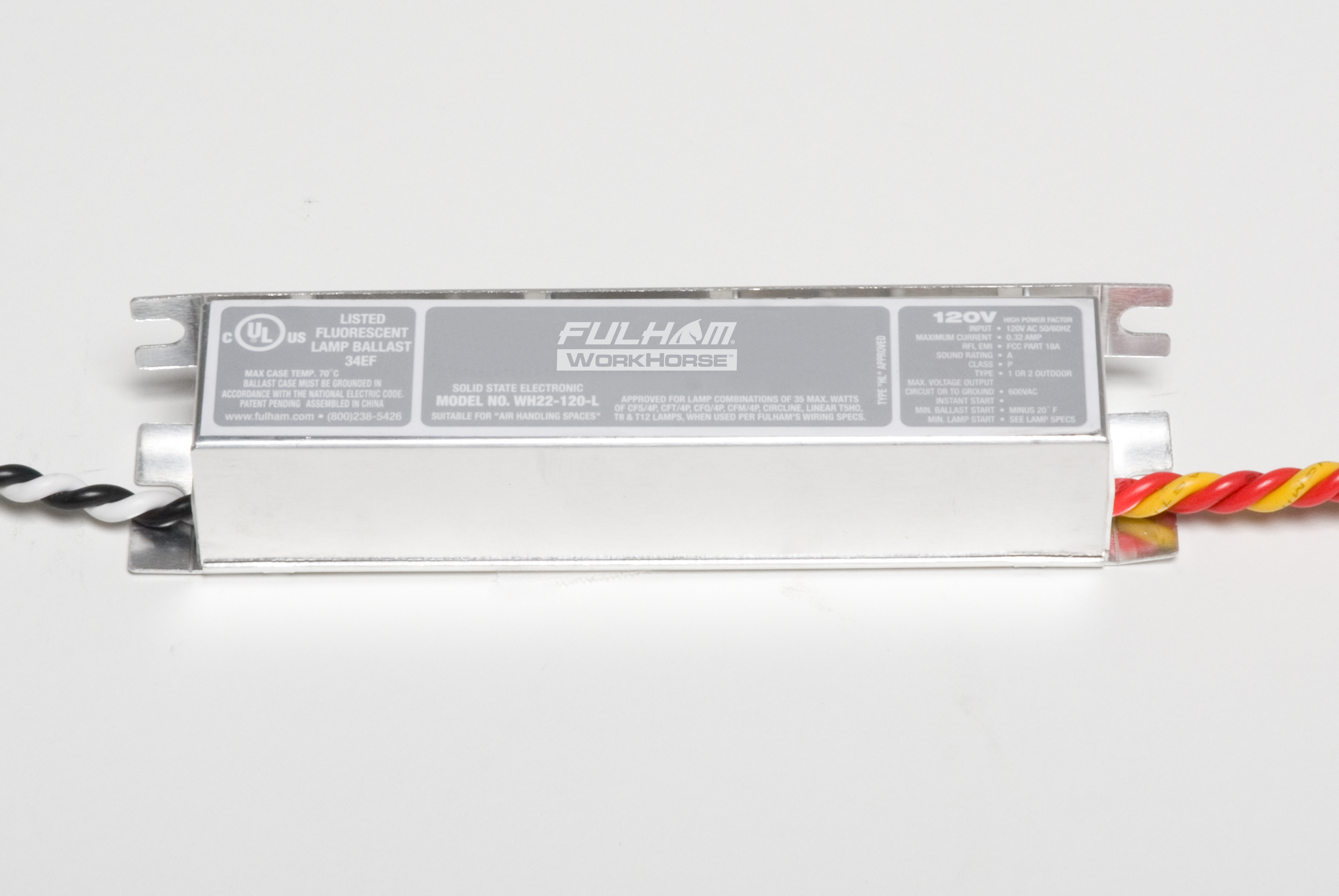 Fulham North Coast Electric Workhorse Ballast Wiring Diagram Fulhamwh22 120 Lworkhorse 22 V Linear
