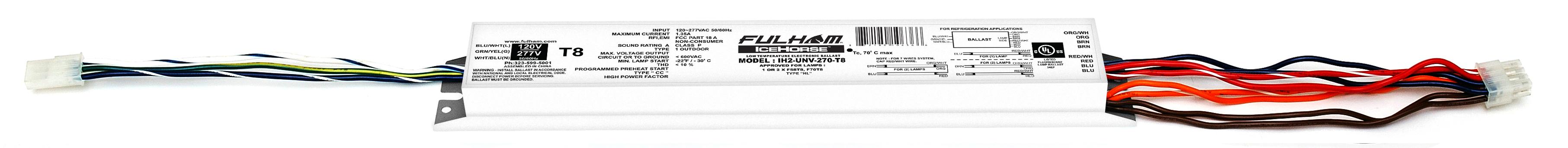 FHM IH2-UNV-270-T8 ICEHORSE (1-2) F25-F32-F40-F58-F70...T8 (1-2) F48-F60?T8HO (1) F72T8HO? (1-2)F48-F60 T10VHO? (1-2) F48-F60-F72 T12HO? (1) F96T12HO?(1) F96T12VHO