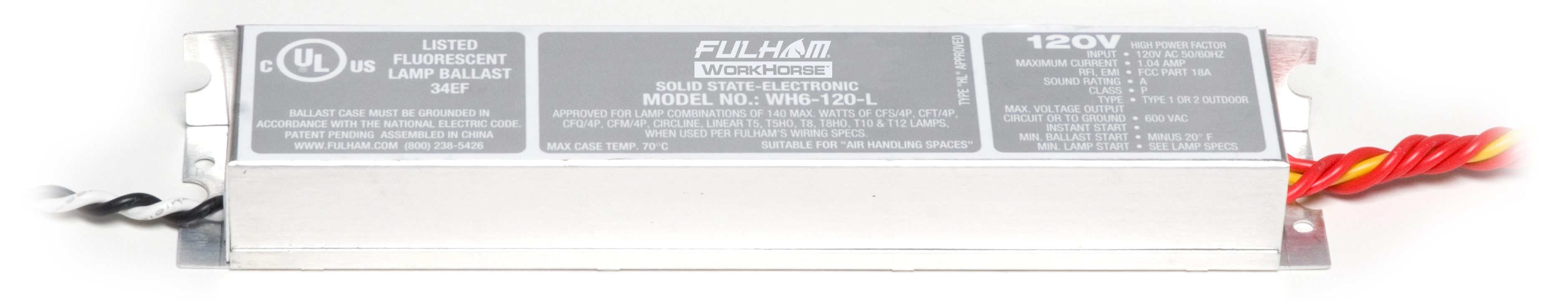 FHM WH6-120-L WORKHORSE 120V (3-4) F21-F28 T5
