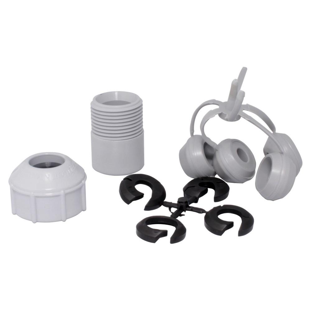"SRCU 15 3/4"" PVC STRAIN RELIEF CONNECTOR SCEPTER"