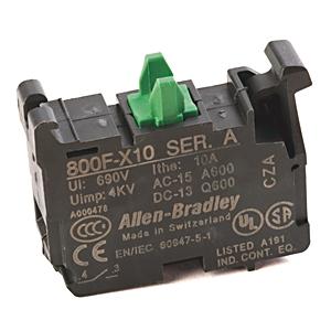 Allen-Bradley,800F-X10,22mm Contact Block 800F PB
