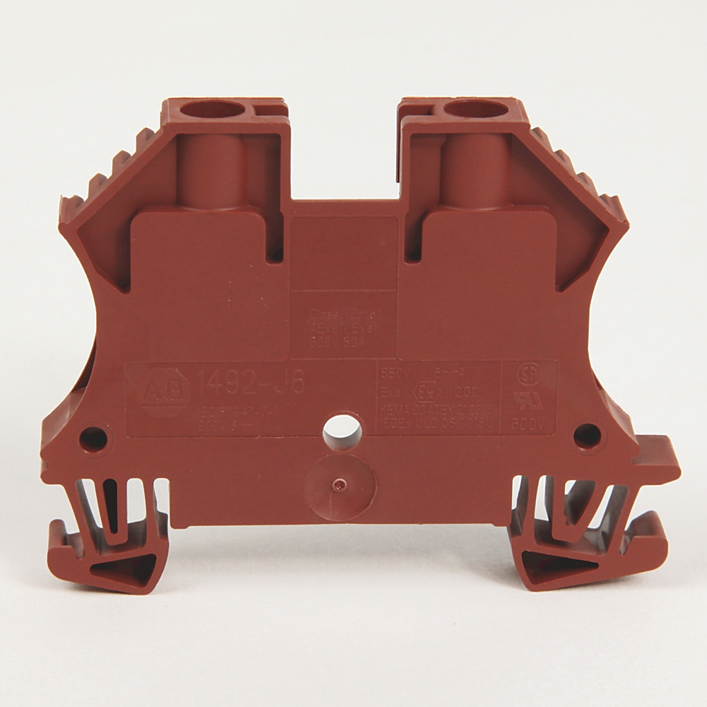 1492-J6-BL AB IEC ONE-CIRCUIT FEED-THROUGH BLOCK, 6MM MAX. WIRE 66207305813