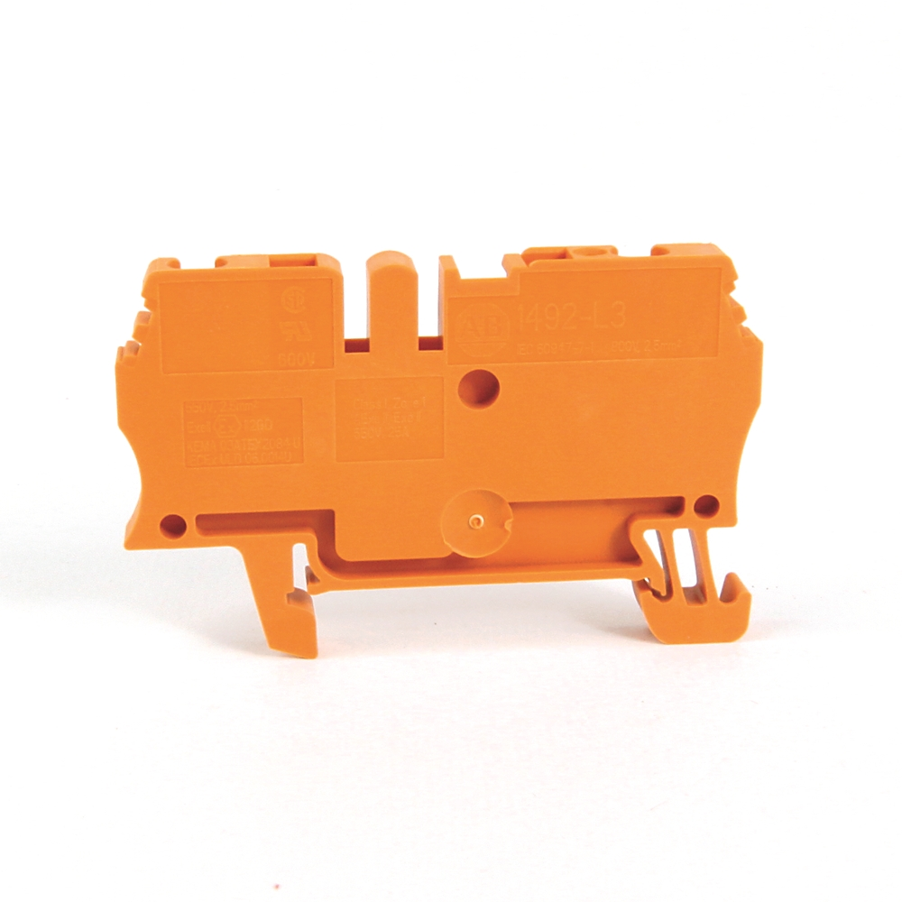 1492-L3-OR AB ONE-CIRCUIT FEED-THRO BLOCK, 2.5MM MAX. WIRE, 66207305476
